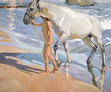 Joaquín Sorolla y Bastida - The Horse's Bath - Google Art Project.jpg