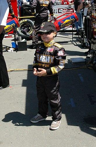 John Hunter Nemechek - A young Nemechek in the pits at Infineon Raceway in 2005