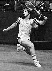 John McEnroe playing tennis
