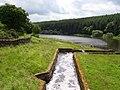 John O' Gaunt Reservoir spillway flowing into Beaver Dyke Reservoir - geograph.org.uk - 474061.jpg