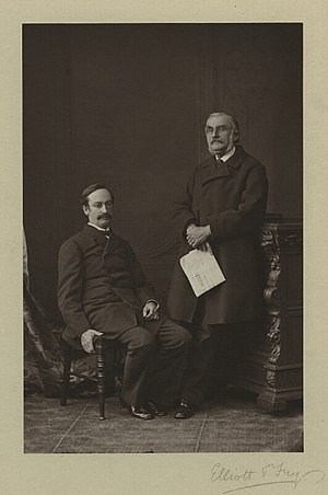 John Strachey (civil servant) - Sir John Strachey (left), together with his brother Sir Richard, 1876.