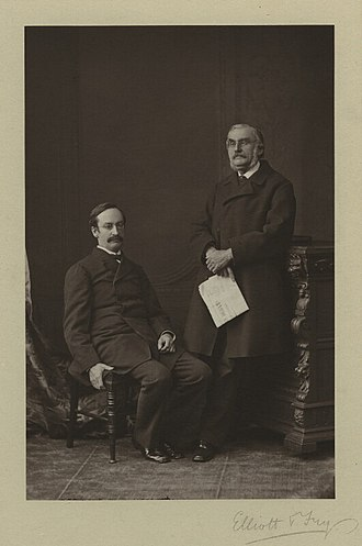 John Strachey (civil servant) - Sir John Strachey (left), together with his brother Sir Richard, 1876.