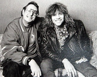 Jon Bon Jovi -  Jon Bon Jovi with Jonathan King in 1987