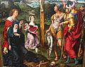 Joos van cleve, trittico della crocifissione tra i committenti inginocchiati, 1500-1550 ca. 02.JPG