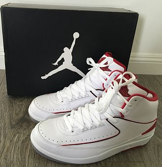 Air Jordan - Nike Air Jordan II, (White/Red Colorway)