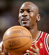head shot of Michael Jordan