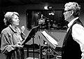 Josef Kleibl a Dagmar Sedláčková u mikrofonu Meteoru. Osmdesátá léta.jpg