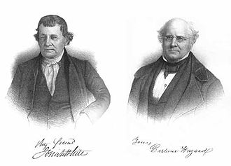 Mauch Chunk Switchback Railway - Josiah White and Erskine Hazard-founding partners of the Summit Hill & Mauch Chunk Railroad