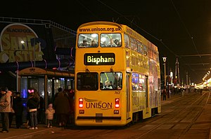 English Electric Balloon tram - Jubilee tram 762 at the Sand Castle, Blackpool