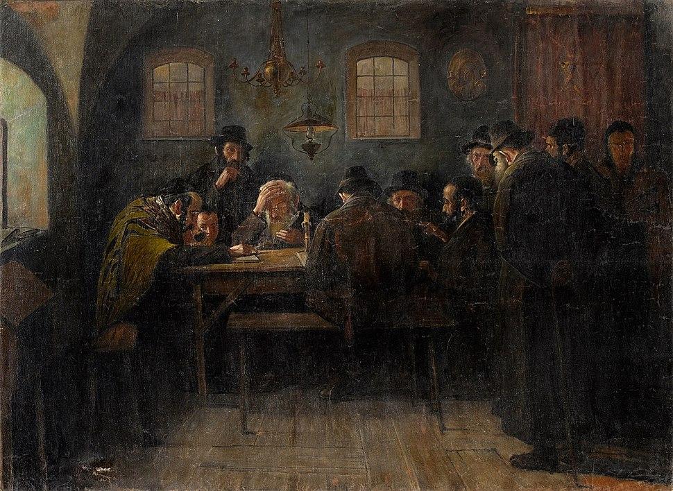 Juden beim Talmudstudium Paris 19-20Jh