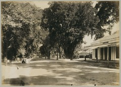 KITLV 12560 - Kassian Céphas - Streetscape at Yogyakarta with at the right residence office - 1896.tif