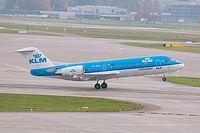 KLM Cityhopper Fokker F70 PH-WXA Zurich International Airport.jpg