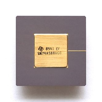 7400-series integrated circuits - Part of the 7400 series: cascadable 8-bit ALU Texas Instruments SN74AS888
