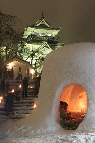 Yokote, Akita - Kamakura Snow Stature in Yokote