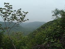 Panorama del Kambalakonda Wildlife Sanctuary nei pressi di Vishakhapatnam