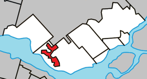 Kanesatake - Image: Kanesatake Quebec location diagram