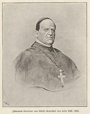 Johannes von Geissel - Image: Kardinal Johannes von Geissel aus Köln