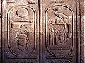 Karnak-42-Hieroglyphen u.a. mit Skarabaeus-1982-gje.jpg