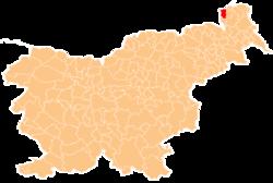 Loko de la Municipo de Rogašovci en Slovenio