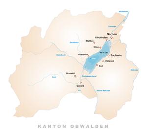 Karte Sarnersee