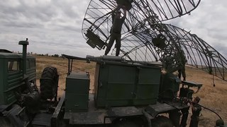 File:Kasta radar of the 150th Motorized Rifle Division in Rostov Oblast (04-08-2020).webm