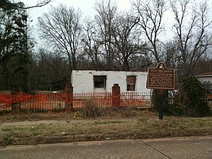 Kate Chopin House (Cloutierville, Louisiana) - Ruins of the house after the 2008 fire