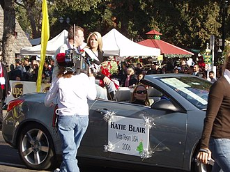 Katie Blair - Blair is interviewed during the San Jose Holiday Parade