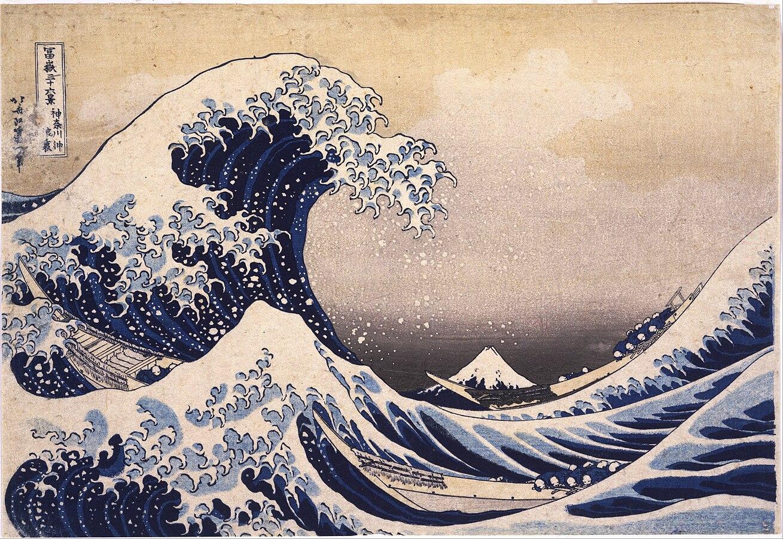 Katsushika Hokusai: Làn sóng lớn ngoài khơi Kanagawa