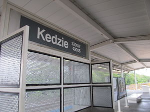 Kedzie station (CTA Orange Line) - Image: Kedzie CTA Orange Line