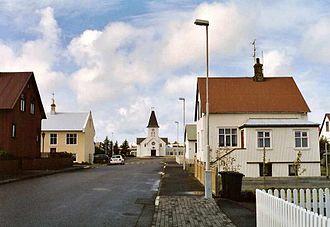 Keflavík - Church at Norðfjörðsgata