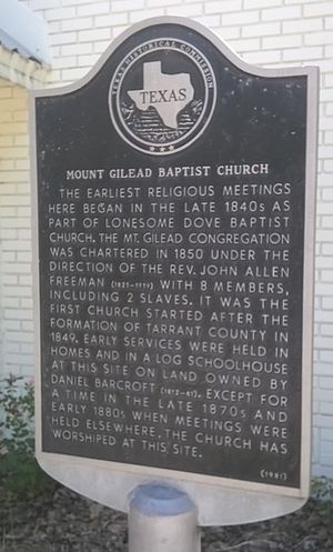 Keller, Texas - Mount Gilead Baptist Church was established in 1850