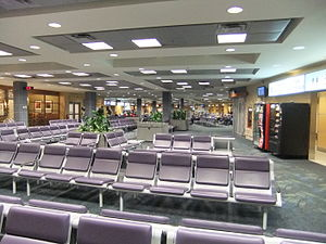 Kelowna International Airport - Departure lounge of the airport.