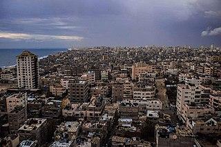 Khan Yunis City in the southern Gaza Strip, Palestine