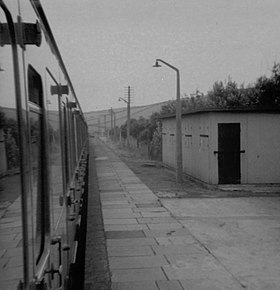 Kidwelly railway station, Wales in 1971.jpg