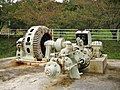 Kitashinano Country Forest and Cultural Park Kusugawa Power Station water turbine and generator 4.jpg