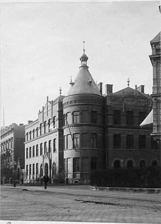 Kjellbergska flickskolan - Kjellbergska flickskolan in Gothenburg (1906)