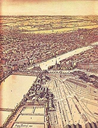Gyldenløvesgade - The railway terrain in 1897