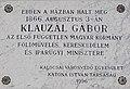 Klauzál Gábor emléktábla, Szent István király út 21, 2019 Kalocsa.jpg
