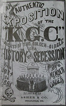 Knights of the Golden Circle History of Seccession book, 1862.jpg
