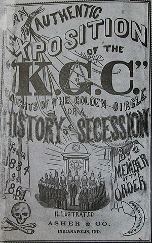 Knights of the Golden Circle - Image: Knights of the Golden Circle History of Seccession book, 1862