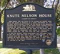 Knute Nelson House historical marker.jpg