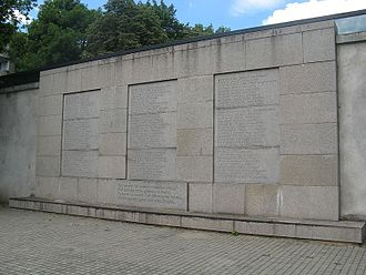 Lithuanian book smugglers - Book Smugglers' Wall