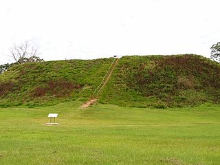 Kolomoki Mounds archaeological site in Georgia, US