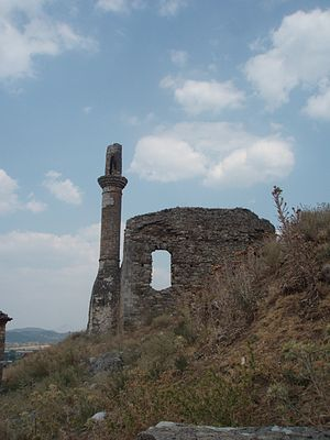 Konitsa - Ruins of Ottoman mosque in Konitsa, Ioannina prefecture, Greece.