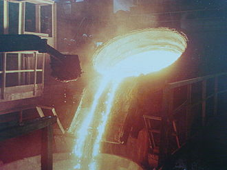 Industry of Bulgaria - A steel-producing installation at the Kremikovtsi metallurgy works