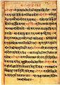 Krishna subdues Kaliya Naag, in Bhagavata Purana, c18th century manuscript.jpg