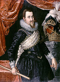 King Christian IV of Denmark. General of the Lutheran army.
