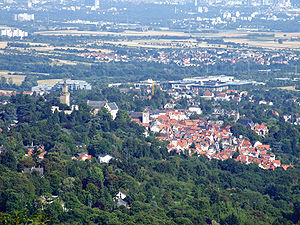 Kronberg im Taunus - View from Falkenstein castle.