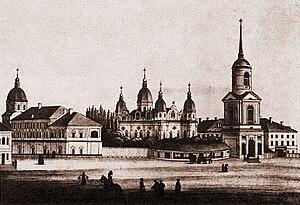 Brotherhood (Orthodox lay societies) - The Kiev Brotherhood compound included the Brotherhood Monastery and its religious school (later the Kiev Mohyla Academy)