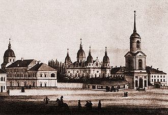 Orthodox brotherhood - The Kiev Brotherhood compound included the Brotherhood Monastery and its religious school (later the Kiev Mohyla Academy)
